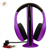 5 in 1 Wireless headphone for TV PC DVD MP3 MP4 in 2015 with FM radio