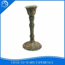 Chic Bronze Cemetery Stand Curve Candle Holder