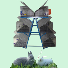 Hot sale wire steel commercial rabbit cage in Kenya farm