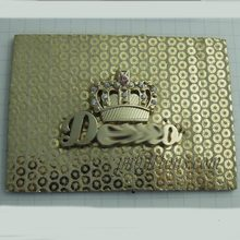 China supplier Customized pu leather labels / embossed leather logo
