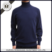 men's thick new design polo neck turtleneck pullover wool cashmere knitted sweater for wholesale