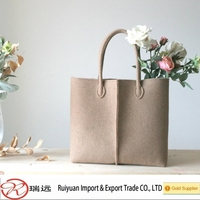 2015 European Style High Quality felt shoulder bag, felt tote bag from China supplier