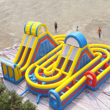 2016 NEW PVC customized giant adult inflatable obstacle course for sale