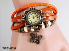 Popular butterfly vintage fashion lady watches ladies