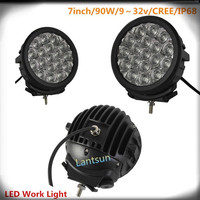 "7"" 90W Auto Round Light Bulb Lamp Auto Led Work Lamp"