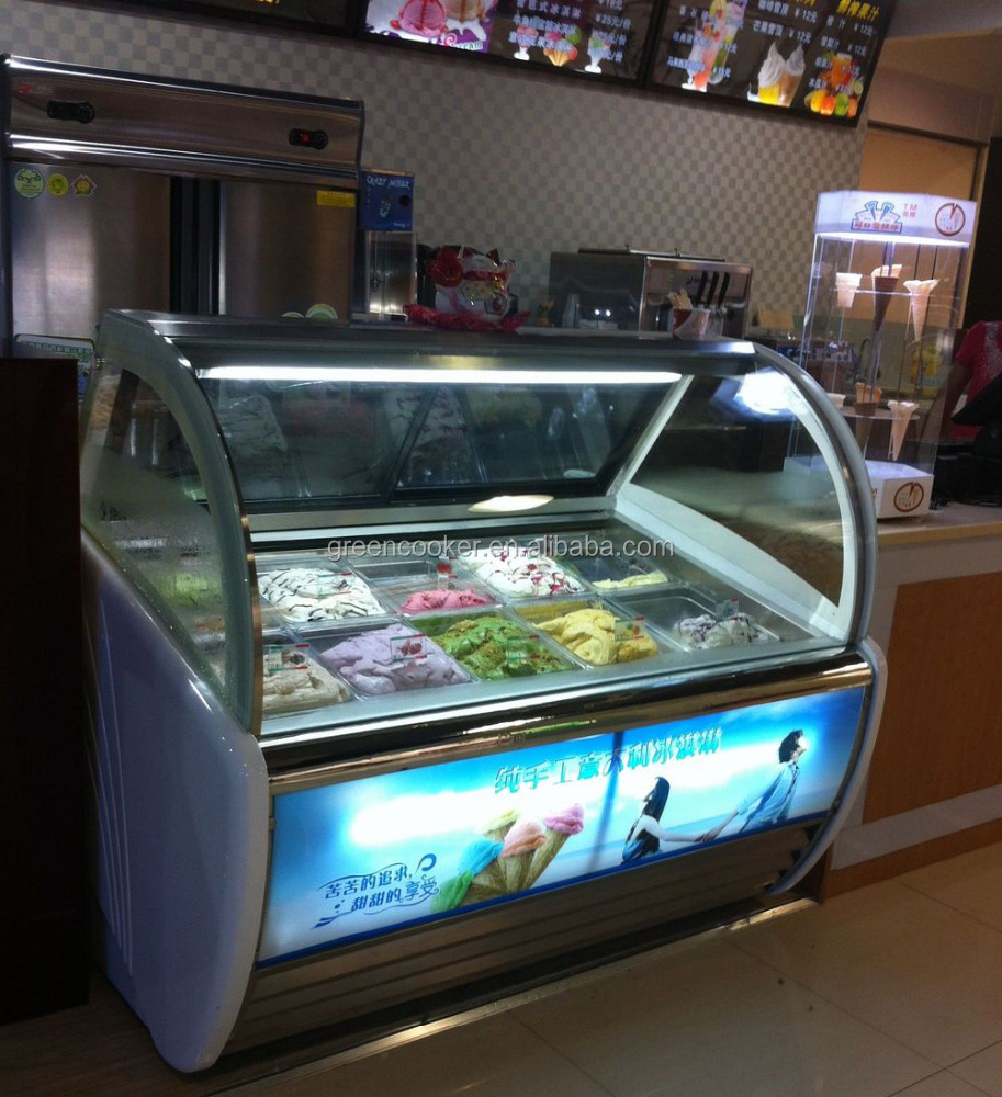 freezer gelato products ice dipping us display cream cabinet