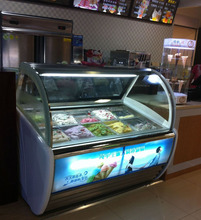 Green&Health commercial gelato display case ice cream dipping cabinets