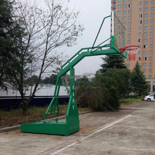 high quality flat box steel rim material basketball system basketball stand