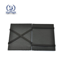Black Leather Elastic Magic Wallet For Women card holder