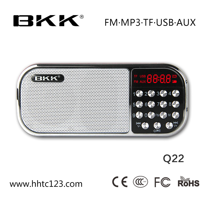 Digital AM FM Radio BKK Consumer Mp3 Player (Q22AM)
