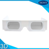 Make Custom Logo Printing Passive Paper 3D Glasses Linear/Circular Polarized Disposable Use