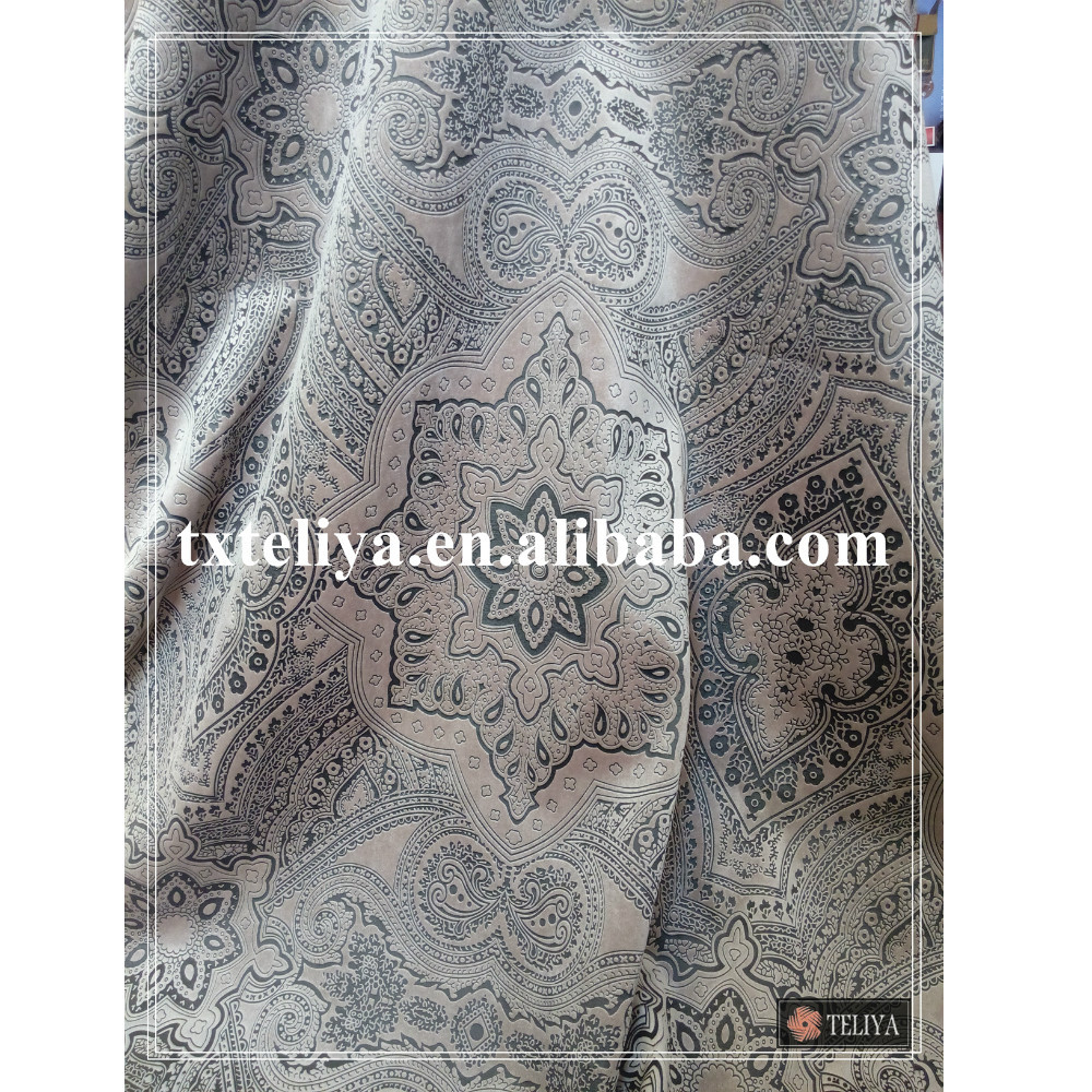 Bronzing velvet fabric for sofa fabric