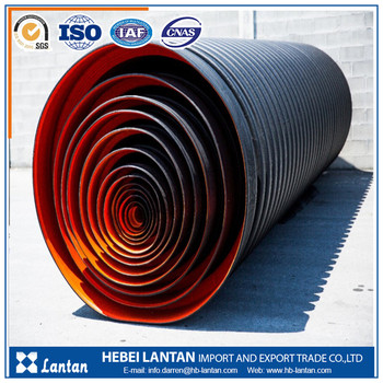 100mm high pressure anti corrosion hdpe double wall corrugated pipe