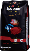 Aqua master, Red Parrot Fish & Cichlid Food, Color Enhancer, High Protein & Astaxanthin - 1kg (M)