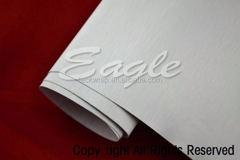 Self-Adhesive Brushed Aluminum Silver Auto Wrap Color Film
