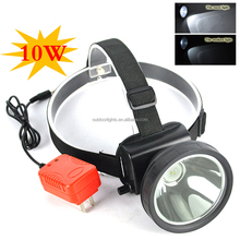 Rechargeable Mining Lamp Big Cup Headlight 10W LED Miner Headlamp