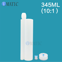 Alibaba Recommendation Quality 345 ml 10:1 AB Glue Plastic Cartridge With Piston