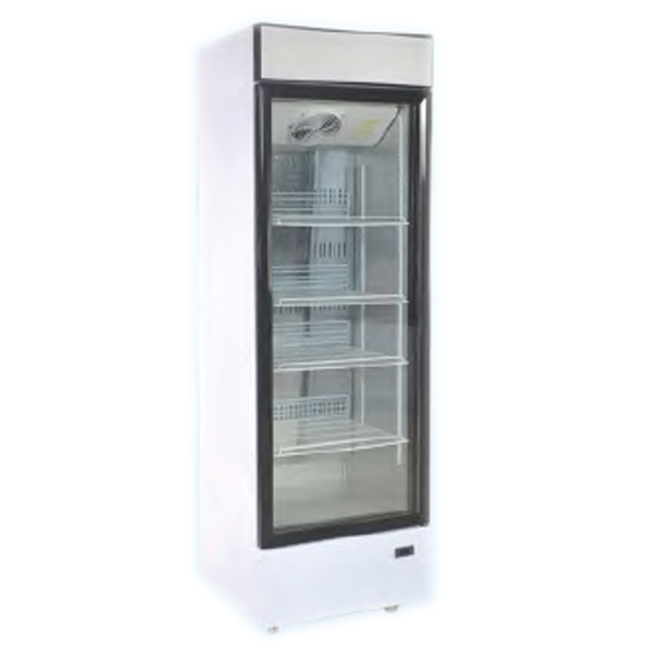 410L Single Glass Door Hot Sale Refrigerated Display Case For Beer And Drink with CE ETL Made In China