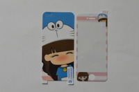 KKT 2014 Cartoon Printed Tempered Glass Screen Protector 0.4mm Round Edge