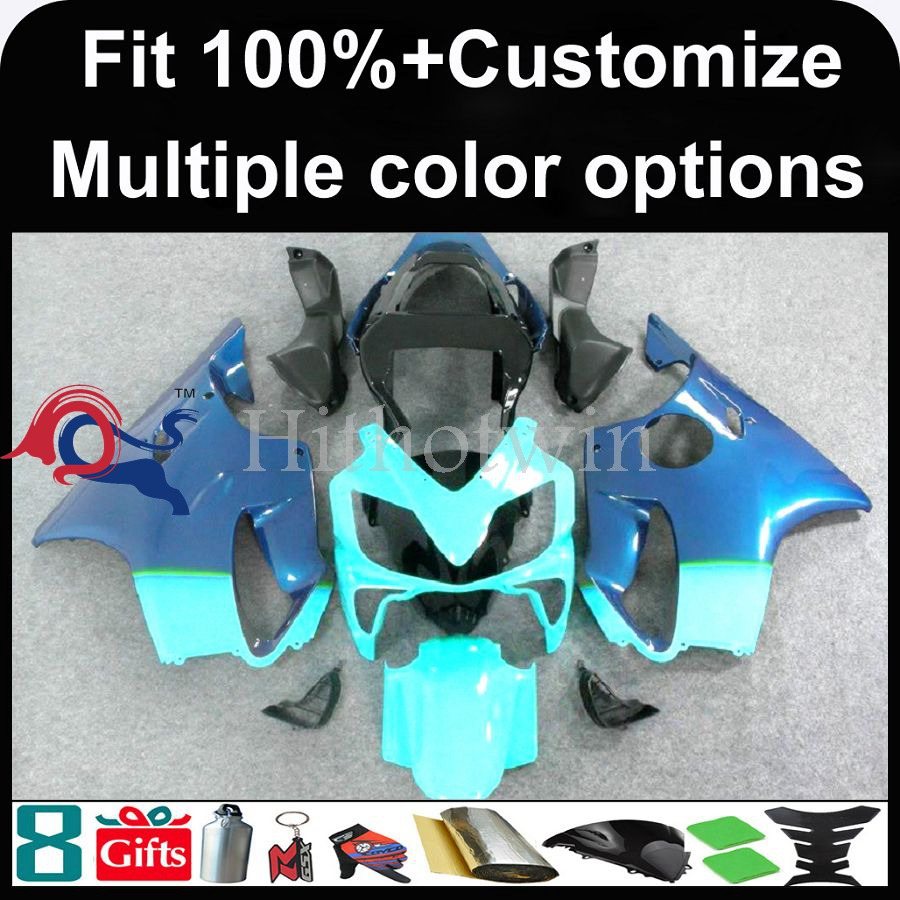 INJECTION MOLDING panels 2001 2002 2003 CBR 600 F4i Plastic Fairing Bodywork Fit blue ABS Plastic Fairing For HONDA CBR600F4I CB