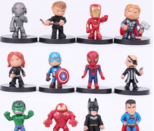 Avenger Figures Toys Superhero Spiderman Figure 4cm 12pcs per set Children Gift movie action figures