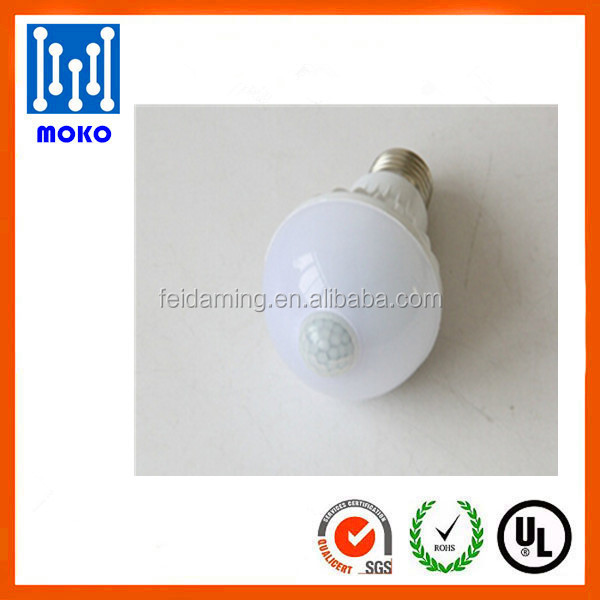 Wholesale cheap PIR Motion Sensor Lamp 5W E27 Led Light Bulb PIR Infrared Body with Motion Sensor Lights