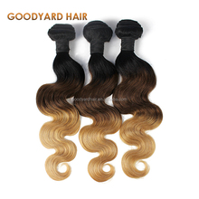 Wholesale cheap indian remy ombre human hair extension in dubai
