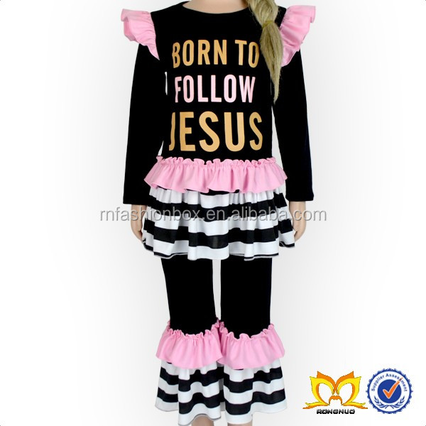 Born To Follow Jesus 3pc Outfit Baby Names For Girls Picture Baby Clothes Wholesale Price