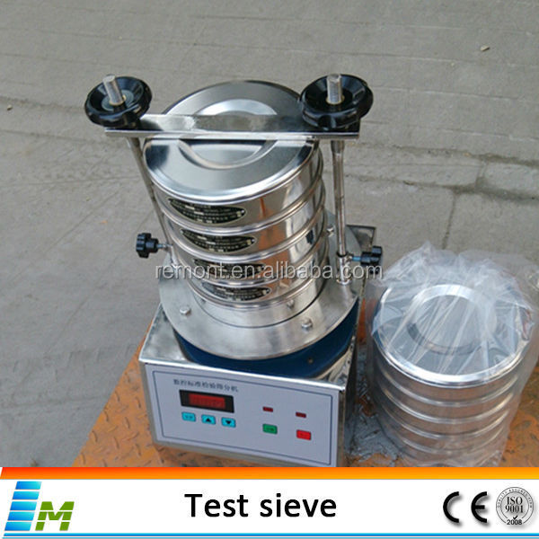Testing vibrating sieve for lab particle analysis