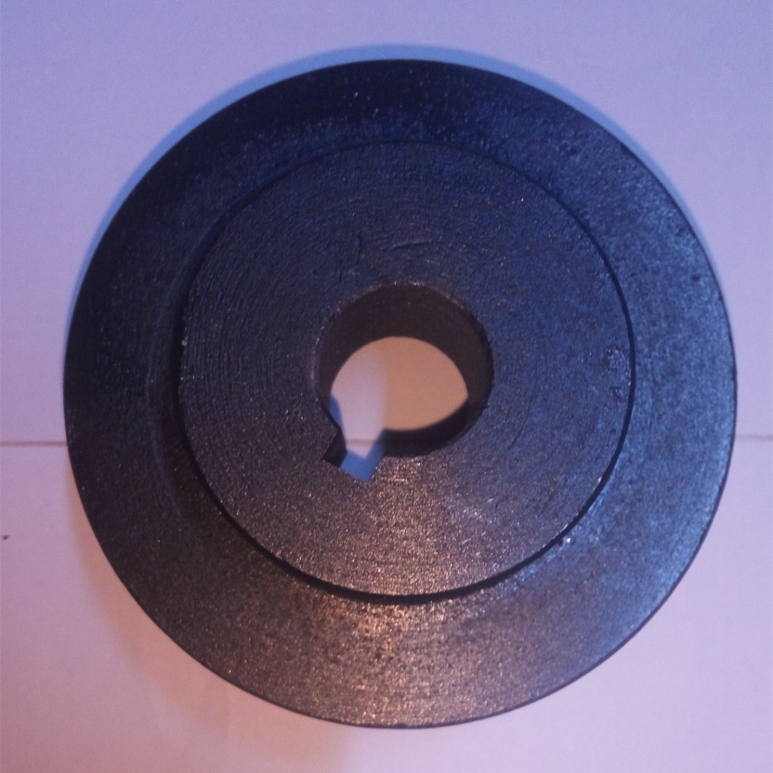 two grooves cast iron fixed pulley sheave wheel