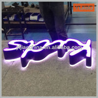 famous boutique brands logo acrylic led advertisement letter sign