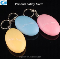 Egg shape personal safety alarm self defense alarm with keychain for child ladies elderly night workers