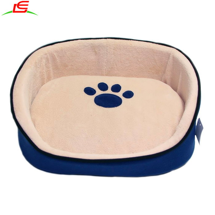 Small Soft Plush Cat Kitten Dog Puppy Pet Bed With Removable Cushion