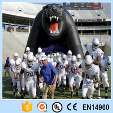 Inflatable Panthers football helmet tunnel for nfl sports football game