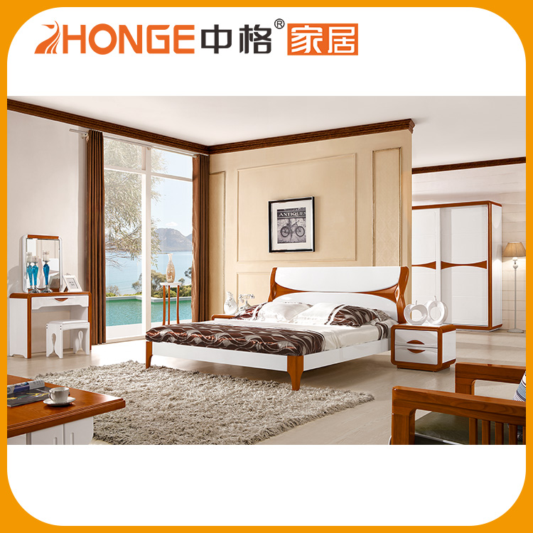 2017 New Good Design Used Double Bed French Bed Furniture