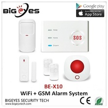 Best wireless Intruder Security WiFi network GSM Home Alarm System with APP control, GSM Alarm