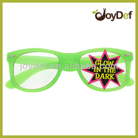 Wholesale Fashion Glow In The Dark Party Sunglasses Clear Lens