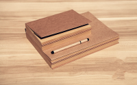Customizable Size Vintage Empty Kraft Notebook