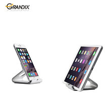 portable silver aluminum alloy material desktop smart cell phone / tablet stand