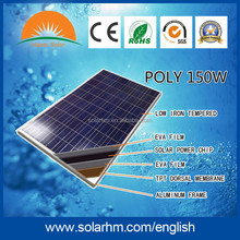 HOT SALE !150W Poly solar panel with CE TUV EL test for solar system