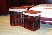 wicker square cheap laundry storage basket
