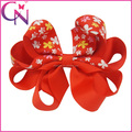 Wholesale Hair Bow, 4.5 inch Fascinating Butterfly Pattern Printed Beautiful Grosgrain Big Hair Bow for Kids
