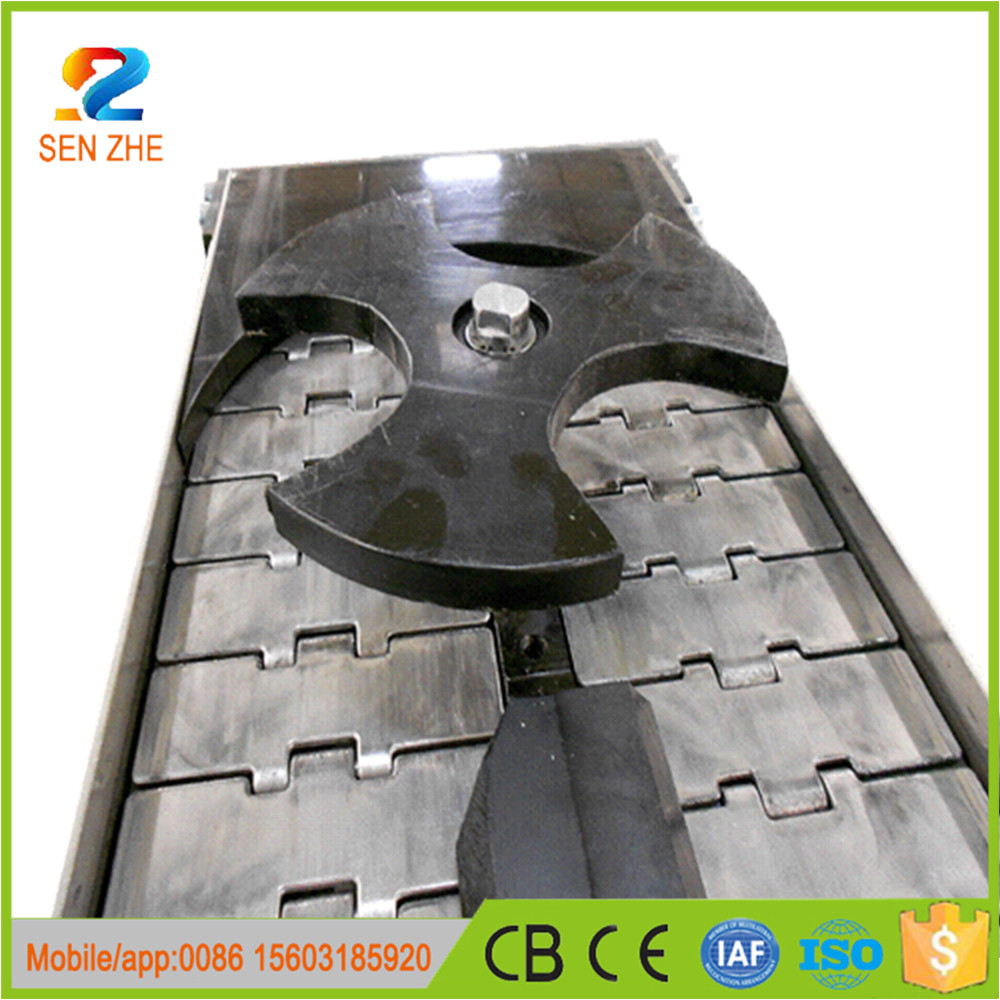 side flexing magnetic slide steel single flat top chain conveyor price chain conveyor for drying machine