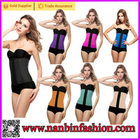 Plus size nine steel bone latex cheap waist training corsets