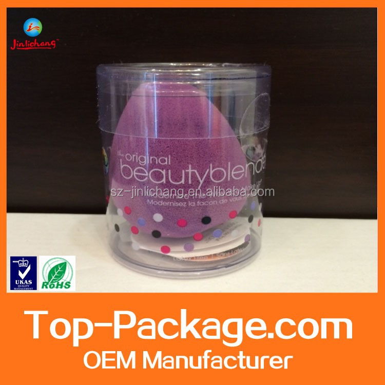 Custom clear cylinder packaging box,transparent plastic round box with lids