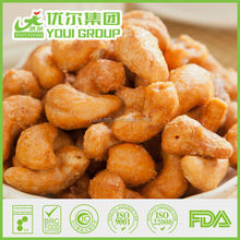 Wholesale roasted coated charcoal flavor cashews supplier, nuts kernels food