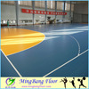 Low price 4.5mm wood used basketball court floor, futsal court