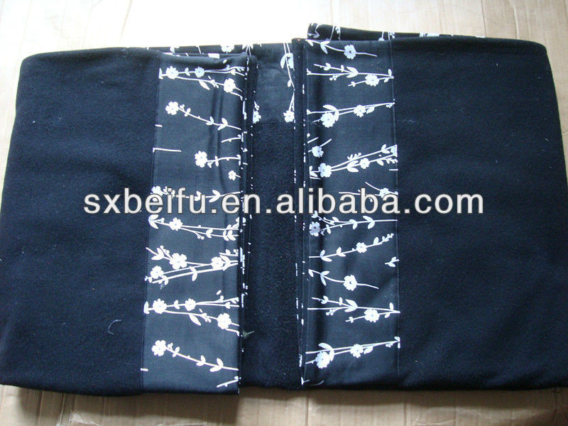 polyester sewed with 5 cm edge polar fleece blanket