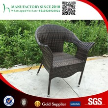 Outdoor restaurant hotel used arm rattan metal chair