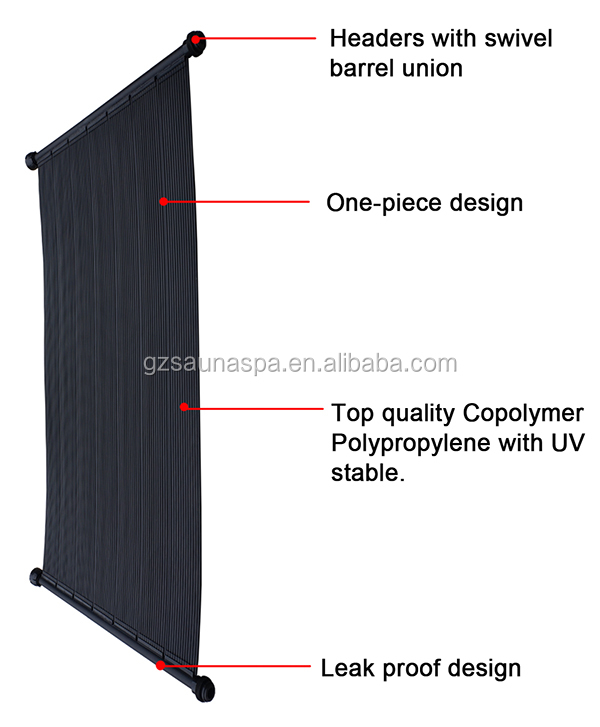 Low maintenance sunny solar collector polypropylene hard solar panel